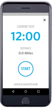 CooperFit App - Cooper Test 12-Minute Run Opening Screenshot