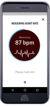 CooperFit App - Measuring Heart Rate Screenshot