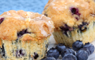 Moist and Delicious Low-Calorie Blueberry Bran Breakfast Muffins