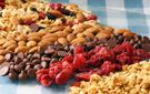 Chocolate Peanut Butter Crunch Mix with Dried Cranberries