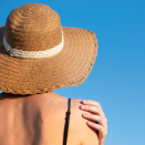 woman in sunhat