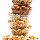 stack of bowls with nuts