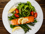 Zesty Grilled Salmon with Lemon and Capers on Mixed Greens