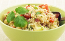 Healthy Vegetable Quinoa Pilaf with Optional Sliced Almonds