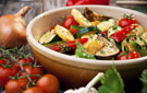 Colorful Vegetable Roast with Olives and Fresh Herbs